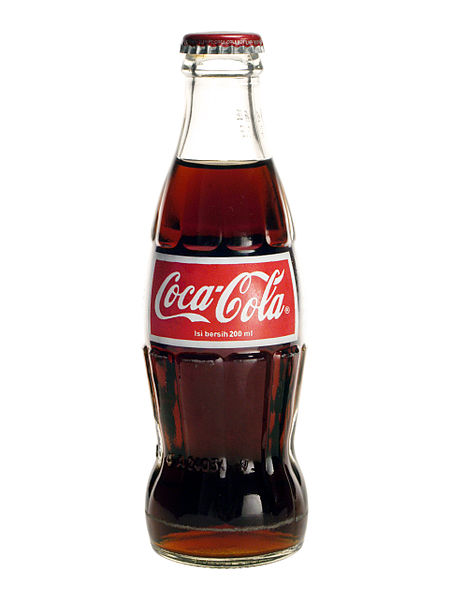 Glass bottle of Coca-Cola